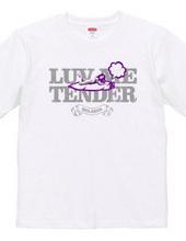 """""""luv me tender/purple"""" T-shirt"""