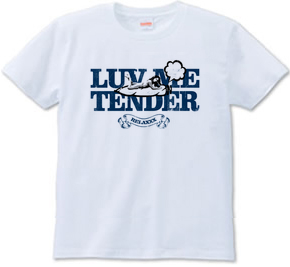 """luv me tender/navy"" T-shirts"