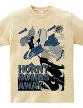HORNY BOMBS AWAY ノーズアート ミサイルガール