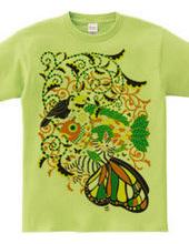 植物魚と猫蝶とオニオオハシ5色