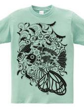 植物魚と猫蝶とオニオオハシモノクロ