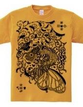 植物魚と猫蝶とオニオオハシペン画
