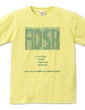 ADSR 8bitシンセサイザーTシャツ