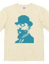 Erik Satie in 8-Bit t-shirt