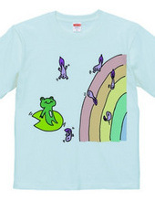 Frog and rainbow