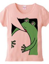 袖が舌になるカエル