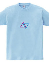 triangle pink×blue