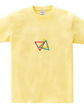 triangle pink×yellow×blue