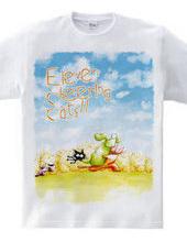 Eleven Cheering Cats