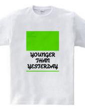 昨日より若く