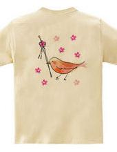 梅のかんざしと鳥