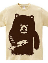 Bear hunting salmon(brown)