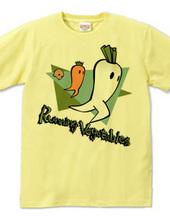 走る野菜たち