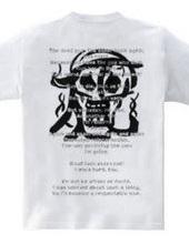 生と死-筆スカルTシャツ-