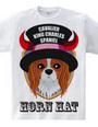 Horn hat dog