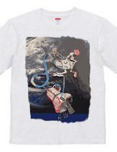 Kosmonaut and chatte noir