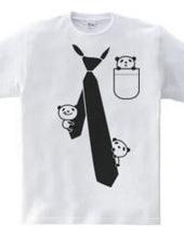 だまし絵 パンダ&ネクタイ