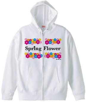 Spring-Flower ジップパーカー用