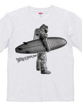 Surfing in Space Suit