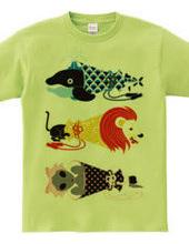 動物メガホン…魚・猫・女子
