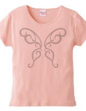 butterfly tribal Tシャツ