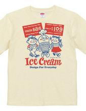 アイスクリームBoy&Girl☆アメリカンレトロ 片面