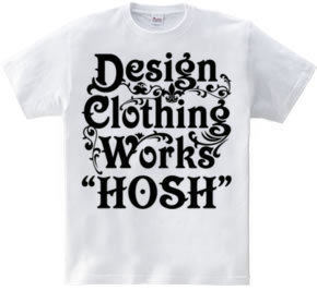 """HOSH""ロゴTシャツ"