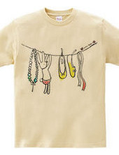 自分で完成させるTシャツ〜リボン〜