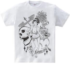 幕末グラビア娘Tシャツ