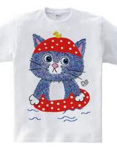 Cat & Swimming Ring