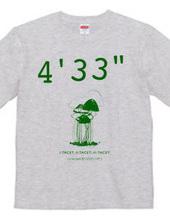 """ジョンケージ 4 33"""" Tシャツ カラー2"""
