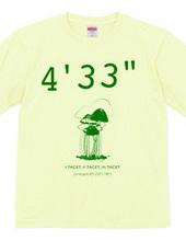"John Cage 4 33 ""T shirt color 2"