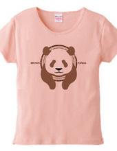 茶色のパンダ 飛び出しスタイル BROWN PANDA