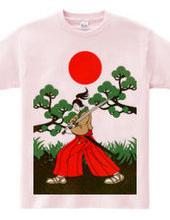 侍と刀と松と日の丸