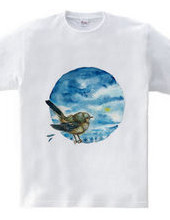 青い鳥と青い空