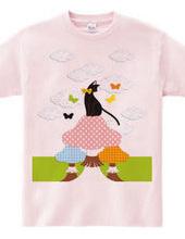 猫とキノコと蝶