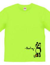 ボウリング ボールを落とすパンダ