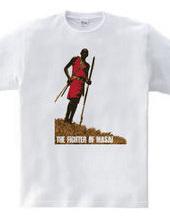 アフリカンアート マサイの戦士★『マサイ族』/DESIGN:C