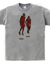 アフリカンアート マサイの戦士★『マサイ族』/DESIGN:I