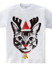 赤鼻のトナカイ猫