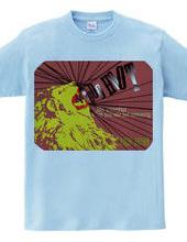 Lion T shirt (dark red)