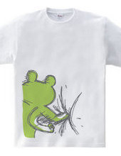 カエルの腹パンチ