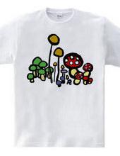 きのこTシャツ