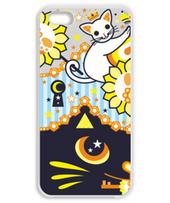 肉球陰陽太極図鍵と鍵穴白猫カップル鍵穴