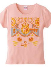 肉球陰陽太極図鍵と鍵穴白猫カップルオレンジ