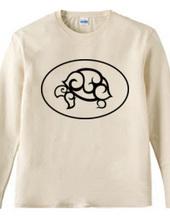 GSP ロゴ ロングTシャツ ブラック