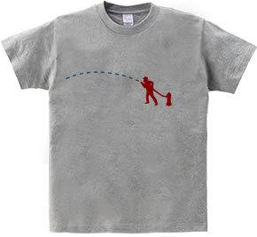 汗じみアートTシャツ『ファイアーマン』