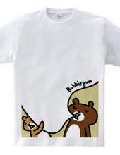 クマと風船ガム