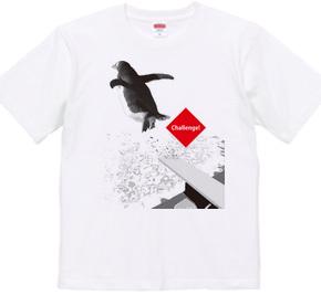 プールの飛び込み台にてペンギンくん★挑戦するアニマルシリーズ B