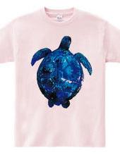 青いウミガメ